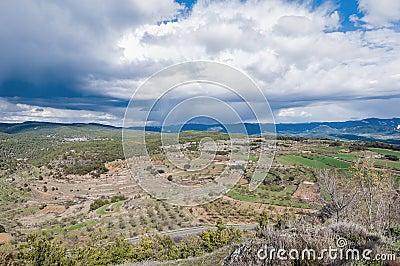 Monroyo village at Teruel, Spain