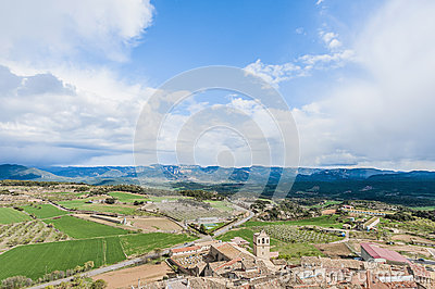 Monroyo village at Teruel, Spain