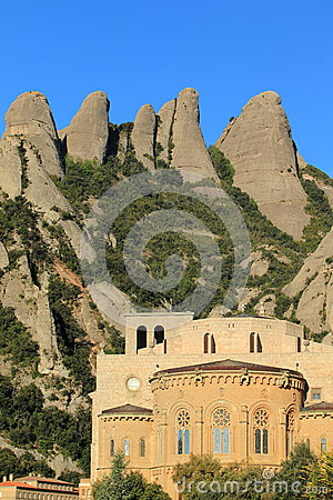 Monserrat peaks and abbey