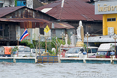 Monsoon flooding in Bangkok October 2011 Editorial Photo