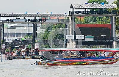 Monsoon flooding in Bangkok October 2011 Editorial Stock Image