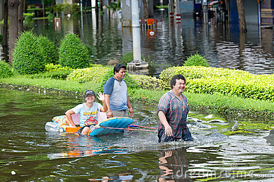 Monsoon flooding in Bangkok, October 2011 Editorial Stock Image