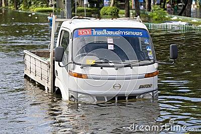 Monsoon flooding in Bangkok, October 2011 Editorial Stock Photo