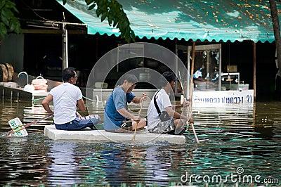 Monsoon flooding in Bangkok, October 2011 Editorial Stock Image