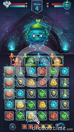 Free Monster Battle GUI Slug Nature Stock Photos - 88105803