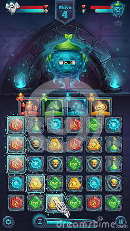 Free Monster Battle GUI Slug Nature Royalty Free Stock Images - 91783009