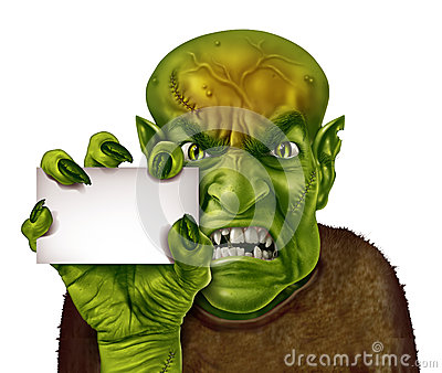 Monster Blank Sign Royalty Free Stock Photos - Image: 27090958