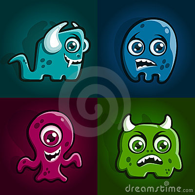 Free Monster Characters Royalty Free Stock Photos - 16694958