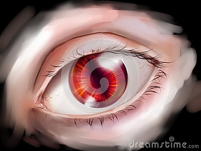 Monster eye with red iris