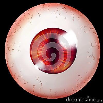 Monster eyeball isolated