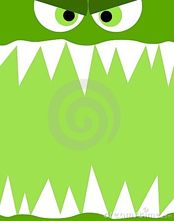 Monster Face Background