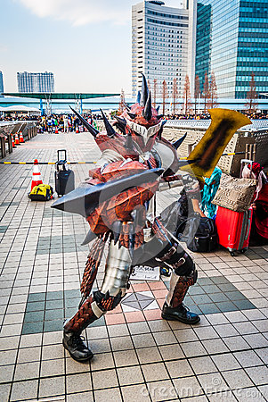 Free Monster Hunter Cosplay In Tokyo Stock Image - 67376451