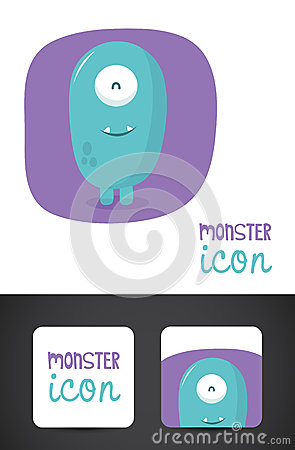 Monster icon and business card design