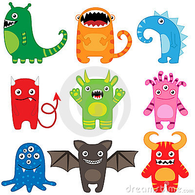 Free Monster Set Stock Images - 21236404