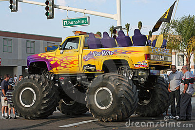 Monster truck called Hog Wild Editorial Photography