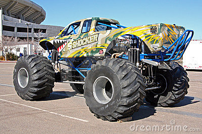 Monster truck called Shocker Editorial Image
