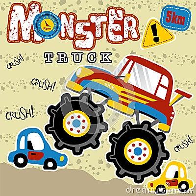 Monster truck cartoon Vector Illustration
