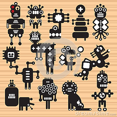 Free Monsters And Robots Collection 17. Royalty Free Stock Images - 32678979