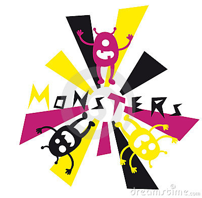 Monsters Doodle