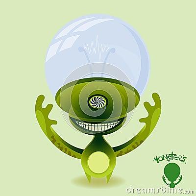 Monsters - Hypnotic Green Alien