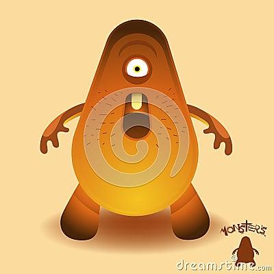 Free Monsters - Mr Lumbering Head Stock Image - 9234311