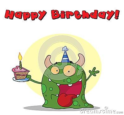 Monstruo del feliz cumpleaños
