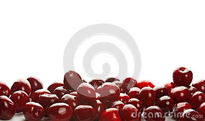 Montón de cerezas dulces