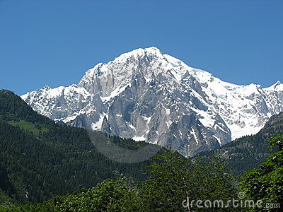 Mont Blanc of Courmayeur Italy