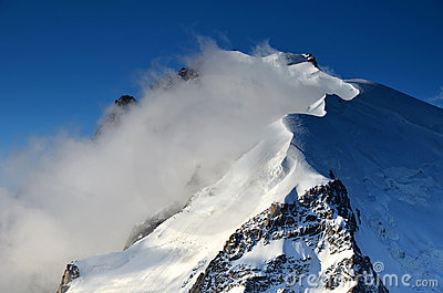 Mont Blanc du Tacul in Alps, France