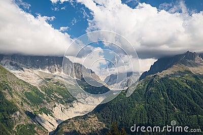 Mont Blanc, by Lac Blanc