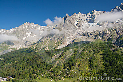 Mont Blanc massif from Ferret