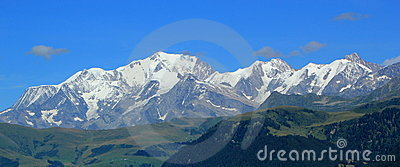 Mont-Blanc mountains by summer, France