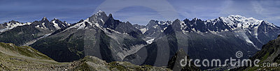 The Mont Blanc range