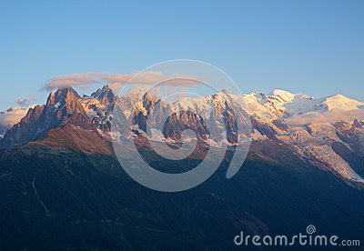Mont Blanc at sunset