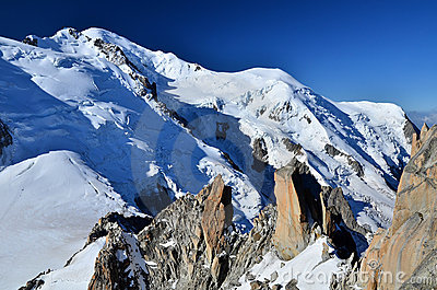 Mont Blanc, top of Europe, Alps mountains