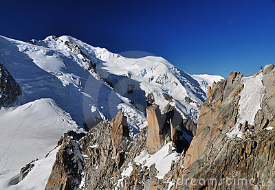 Mont Blanc viewed from the Aiguille du Midi, Alps