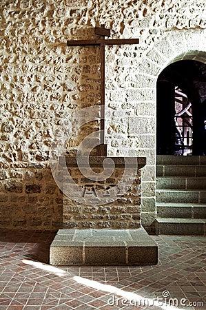 Mont Saint Michel abbey dead stone