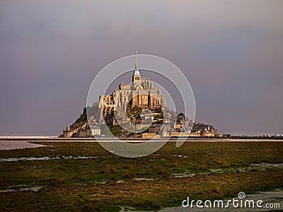 Mont Saint-Michel Castle Stock Photo