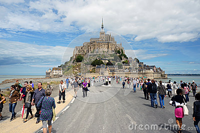 Mont-Saint-Michel, France Editorial Photo