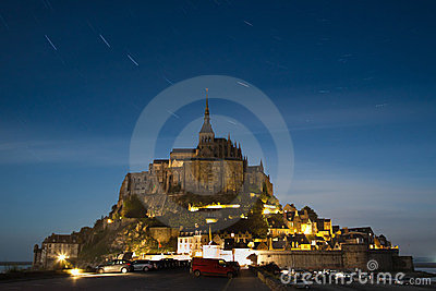 Mont Saint-Michel at midnight