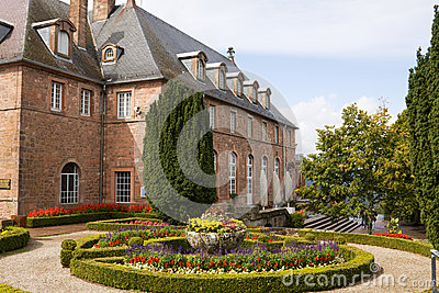 Mont Sainte-Odile abbey in Alsace, France