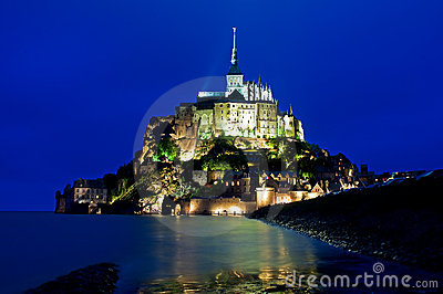 Mont St Michel in Normandy in Evening