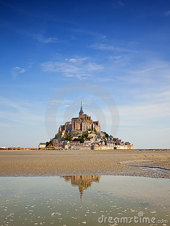 Mont St Michel on summer morning
