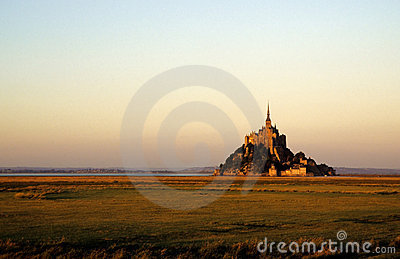 Mont-St-Michel in sunset