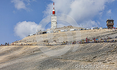 Mont Ventoux- a Cyclist Monument Editorial Stock Image