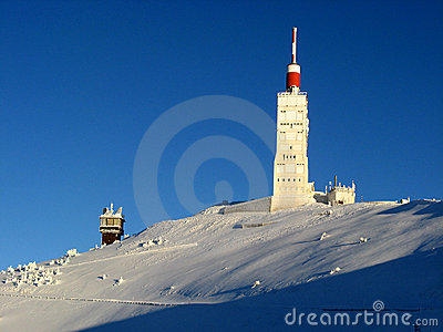 Mont Ventoux in de winter