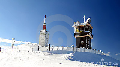 Mont Ventoux summit in winter