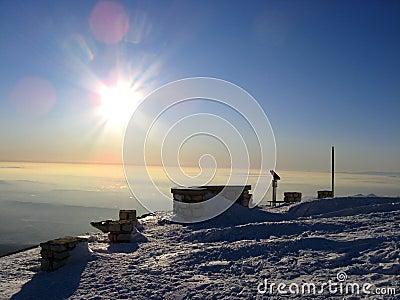 Mont Ventoux in winter