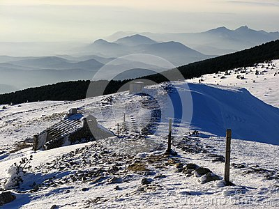 Mont Ventoux in winter