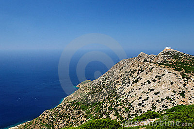 Montañas en la isla griega